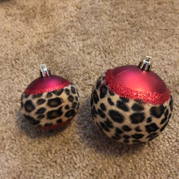 Hobby Lobby Holiday Leopard Print Christmas Ornaments Poshmark